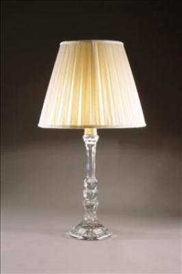CRYSTAL COLUMN LAMP HEXAGONAL BASE