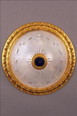 PLAFONNIER PHILADELPHIA II OLIVES (CUTGLASS) LENS