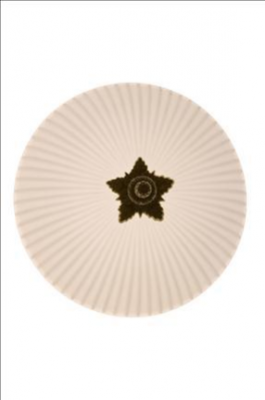 RIBBED OPALINE LENS