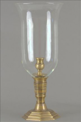 PHOTOPHORE CLEAR FLUTED BRASS
