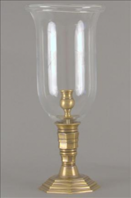 PHOTOPHORE CLEAR FLUTED L BRASS