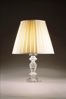 CRYSTAL COLUMN LAMP FRENCH BASE