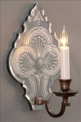 Mirror Sconce Clover Leaf