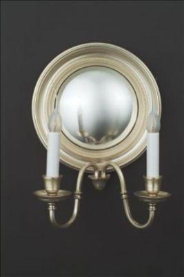 Mirror Sconce Convex Beaded
