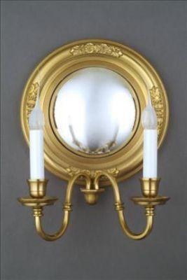 Mirror Sconce Convex Floral