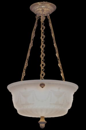 OPALINE LENS CHANDELIER ARTEMIS CROSS CHAIN