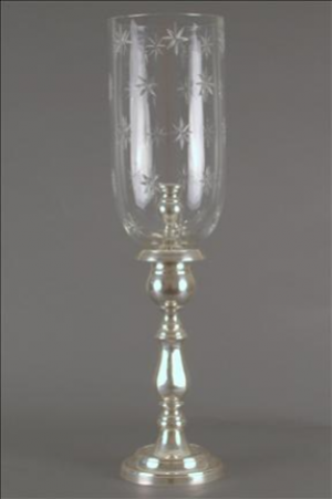 ENGLISH CANDLESTAND STAR SHADE SILVER