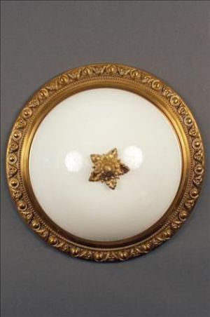 Plafonnier Button Triplex Opal Lens