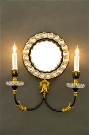 Mirror Sconce Convex Crystal
