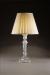 CRYSTAL COLUMN LAMP FLORAL BASE